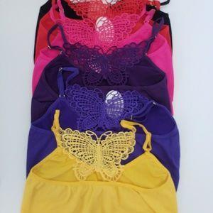 Set of six Angelina bras